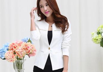 May đồng phục công sở - vest nữ với sắc trắng thanh lịch