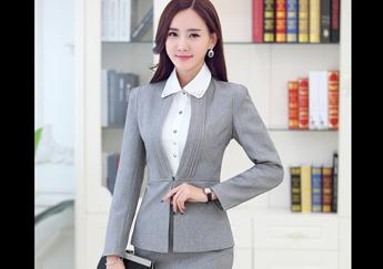 Những bộ vest nữ màu xám thanh lịch-Đồng Phục Lê Kha
