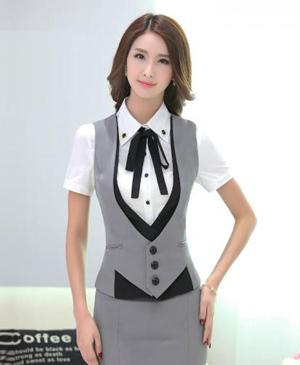May đồng phục lễ tân nhà hàng - khách sạn chuyên nghiệp