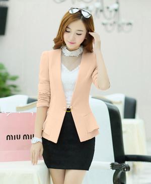 May đồng phục áo vest nữ công sở thanh lịch